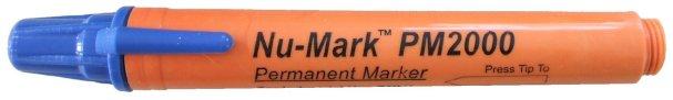 blue permanent marker