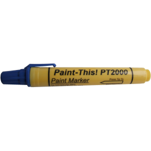 Blue paint marker